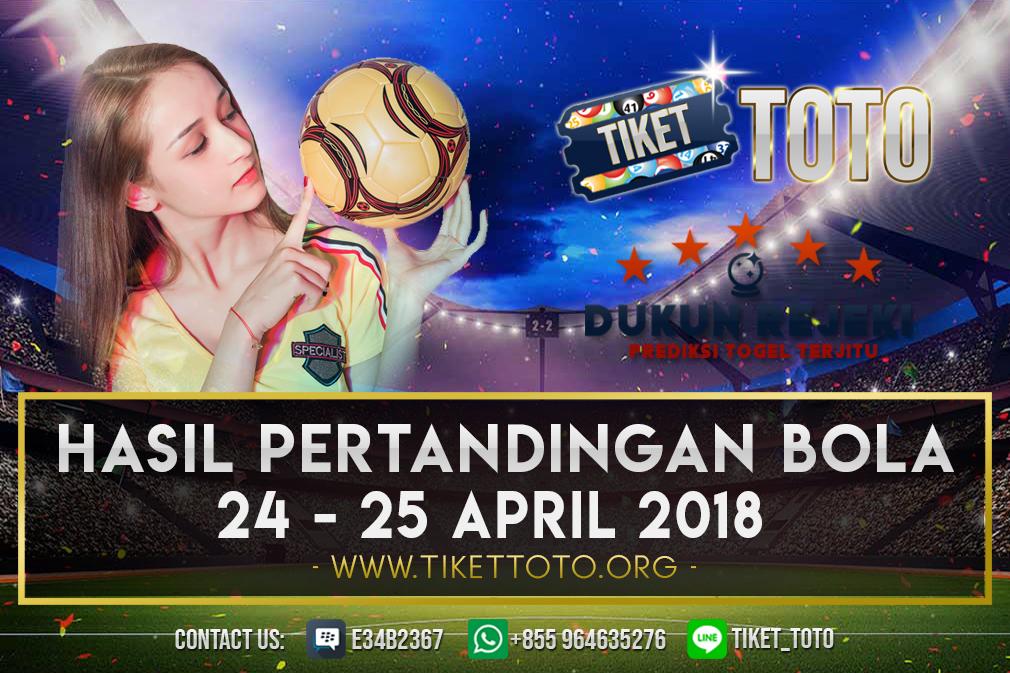 HASIL PERTANDINGAN BOLA TANGGAL 24 – 25 APRIL 2019