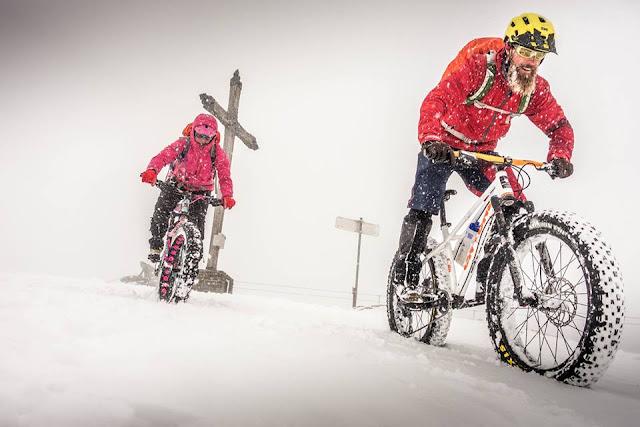 Fatbike Tour im Schnee BBS, petra zeller
