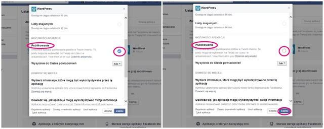 jak usunąć aplikację na facebook ustawienia
