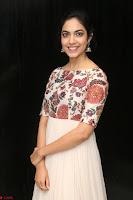Ritu Varma smiling face Cream Anarkali dress at launch of OPPO New Selfie Camera F3 ~  Exclusive 018.JPG