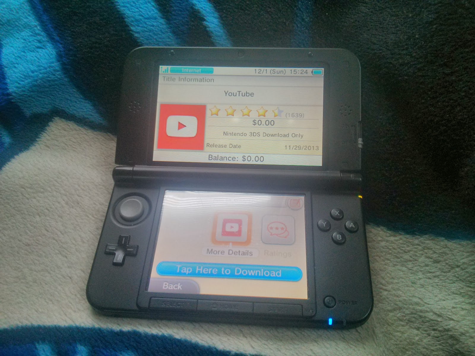 YouTube is now available for the Nintendo 3DS