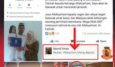 LELAKI DITAHAN KERANA CATATAN FITNAH MENGENAI ADENAN DI FB