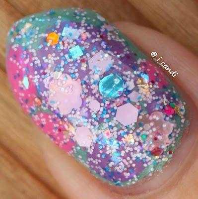 Piggy Bubble Bath Glitter Lambs Nail Polish Swatched By @_i_candi