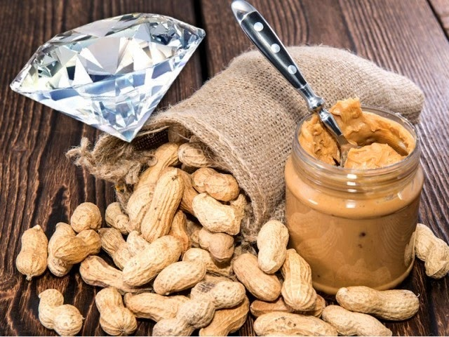 how Scientist make the unnatural diamond from Peanut
