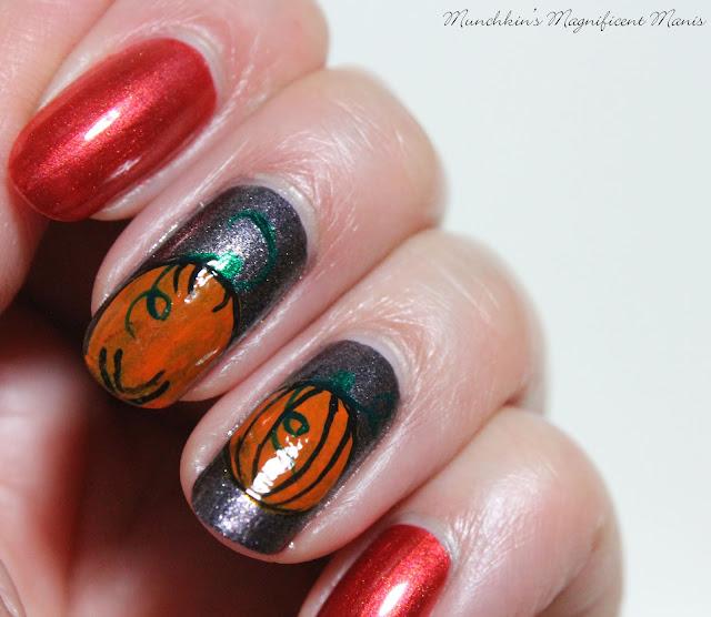 Pumpkin Nail Design