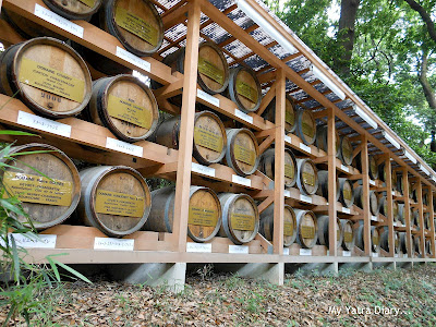 Wine barrels in the path towards the Meiji Jingu Shrine, Tokyo