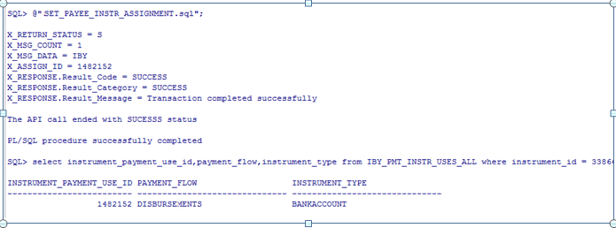 API to assign External Bank Account to Supplier (Create