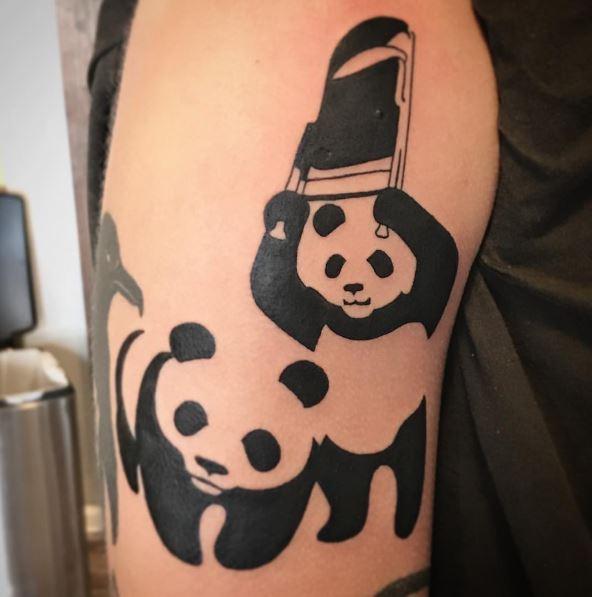 50+ Cute Panda Tattoos for Men (2019) Cool Small Designs ... - photo#18