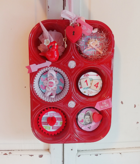 Valentine's Day muffin tin