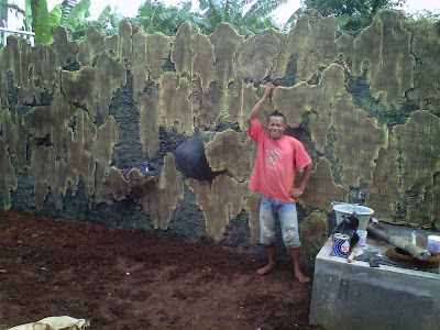 pembuat taman  relief ,tebing ,cadas ,relief air mancur