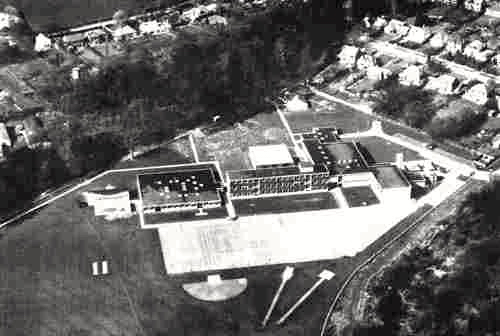 Aerial photograph of Chancellor's School 1968 Image from Aerofilms Ltd