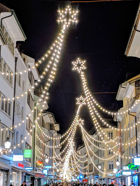 Things to do in Zurich in winter: Lights at the Winterthur Christmas Market