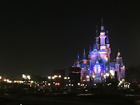 Enchanted Storybook Castle at night Shanghai Disneyland