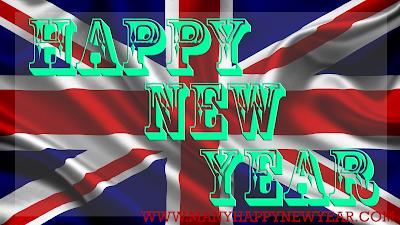New Year 2017 England Flag