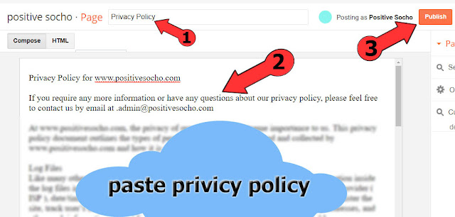 Blog ke Liye Privacy Policy Page Kaise Banaye 2017