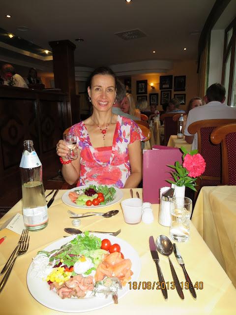 Illallinen Hotel Salzburger Hofissa