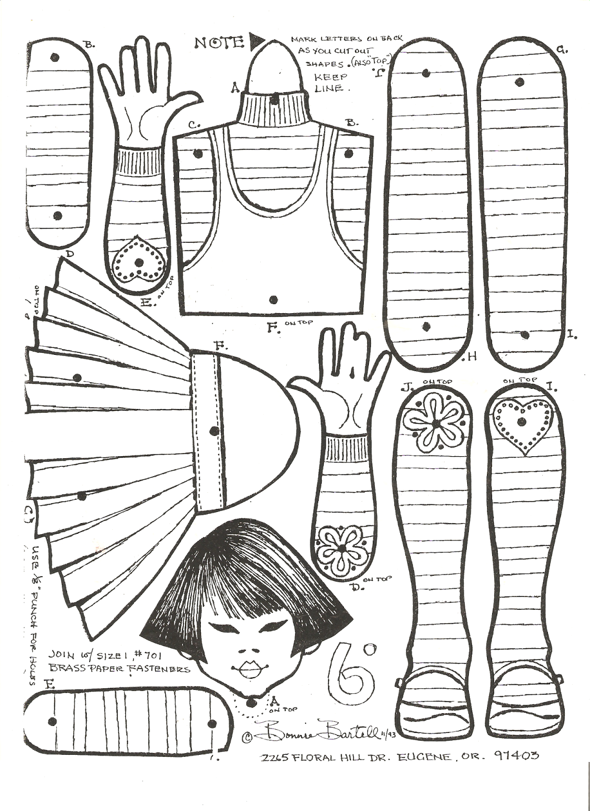 Miss Missy Paper Dolls: some jointed dolls