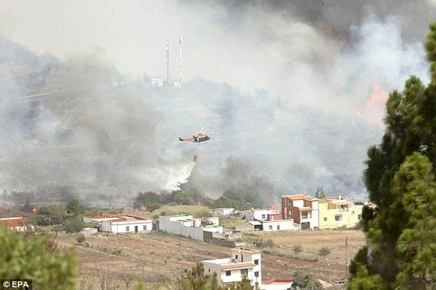 Gobierno de Canarias da por finalizada alerta por incendio foresta en Canarias, 17 julio