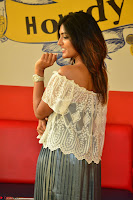Eesha in a cute deep neck top and Skirt at at Big FM 069.JPG