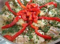 golayo con salsa de azafrán