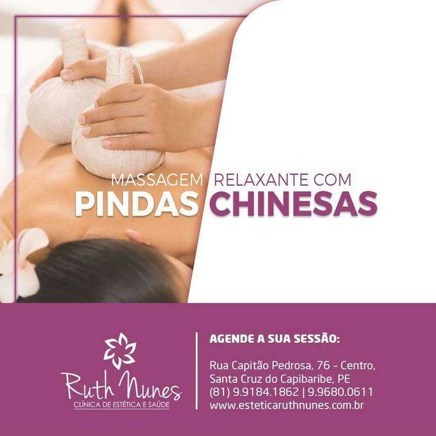 Informativo da Clínica de Estética e Saúde Ruth Nunes: massagem relaxante
