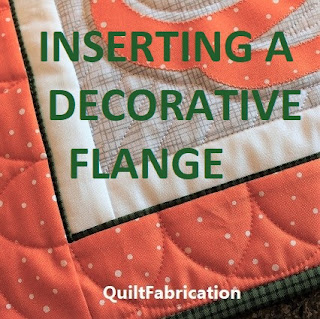 Inserting a Decorative Flange into a quilt border