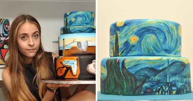 Καλλιτέχνης αναπαριστά διάσημους πίνακες πάνω σε τούρτες!