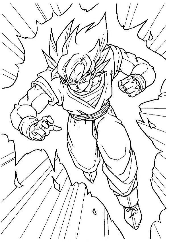 Goku Para Colorear Dibujo Views