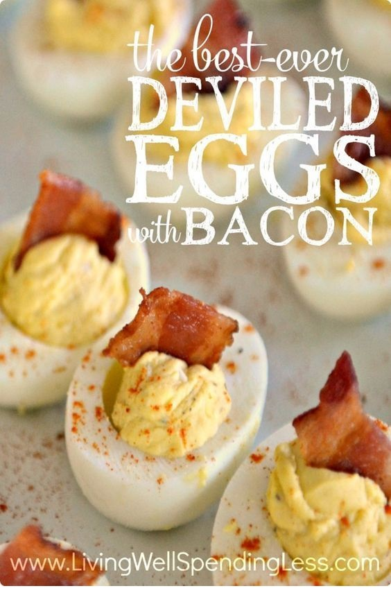 Best Ever Deviled Eggs with Bacon