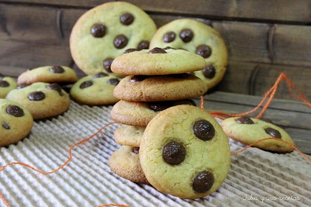 Cookies de naranja y chocolate. Julia y sus recetas