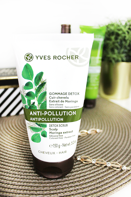 gommage cuir chevelu detox anti-pollution yves rocher