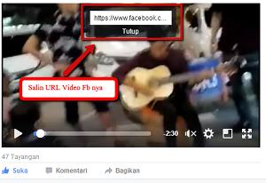 URL video dari FB