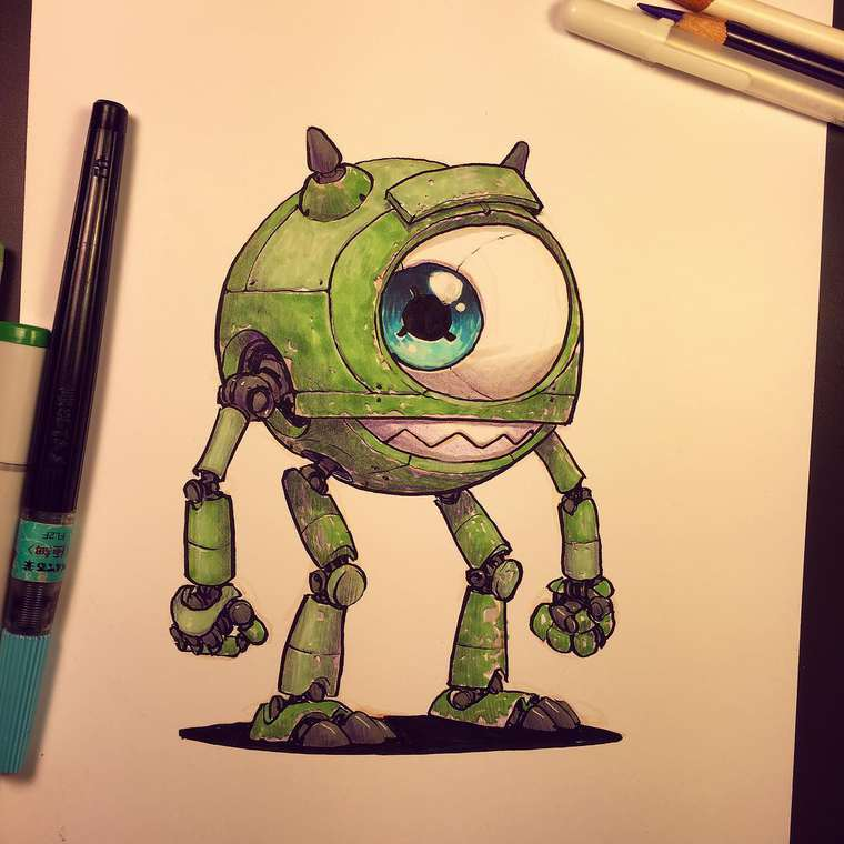 Mike wazowski drawing tumblr