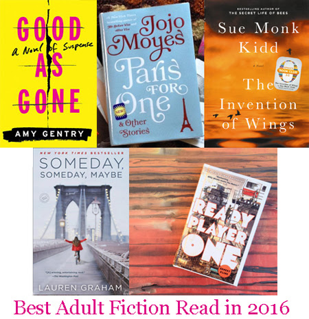 Best Adult Fiction Read in 2016