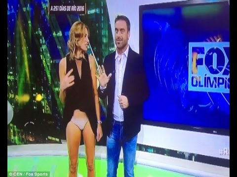Argentina's top journalist Alina Moine suffered mother of all wardrobe malfunctions on live camera.  The Fox Sports journalist accidentally lifted her skirt to reveal her underwear when she was on live camera during a programme.