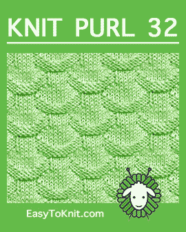 #Knit Scales stitch, Easy Knit Purl Pattern #easytoknit