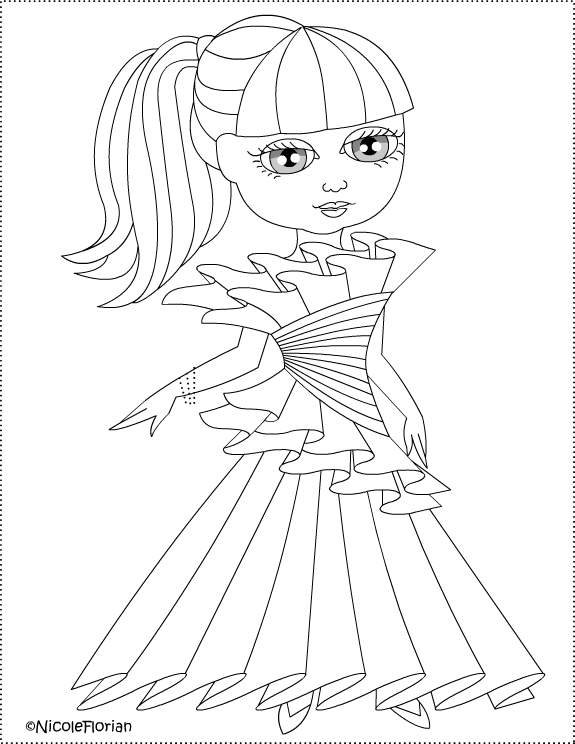 Nicole S Free Coloring Pages Paper Dress For Little Doll
