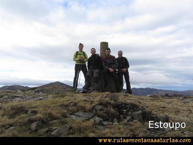 Ruta Alto Aristebano, Estoupo, Capiella Martín: Cima del pico Estoupo