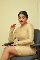 Actress Pooja Roshan Stills in Golden Short Dress at Box Movie Audio Launch  0037.JPG