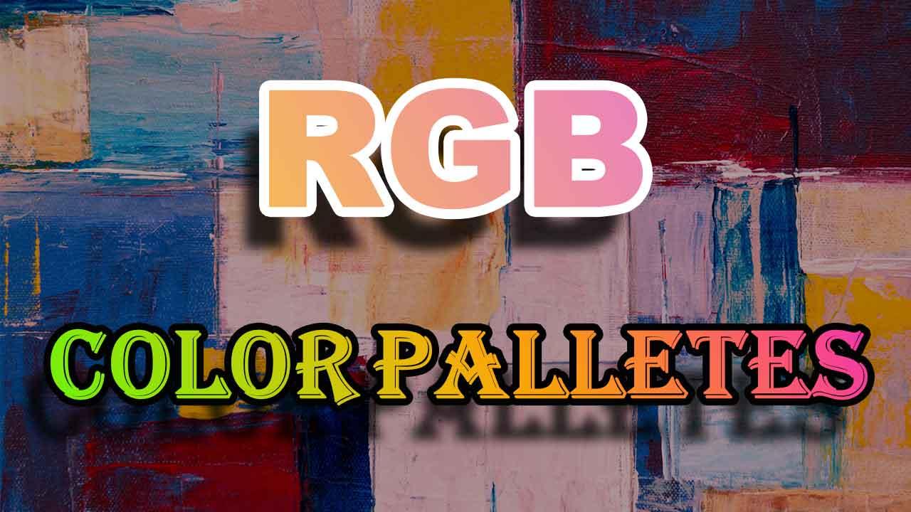 RGB Color Palletes