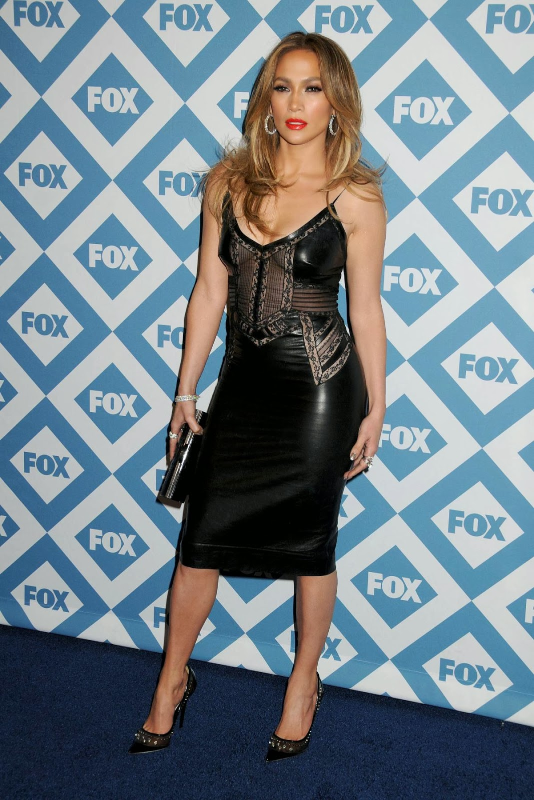 Jennifer Lopez In Sexy Leather Dress For Fox Tca Party