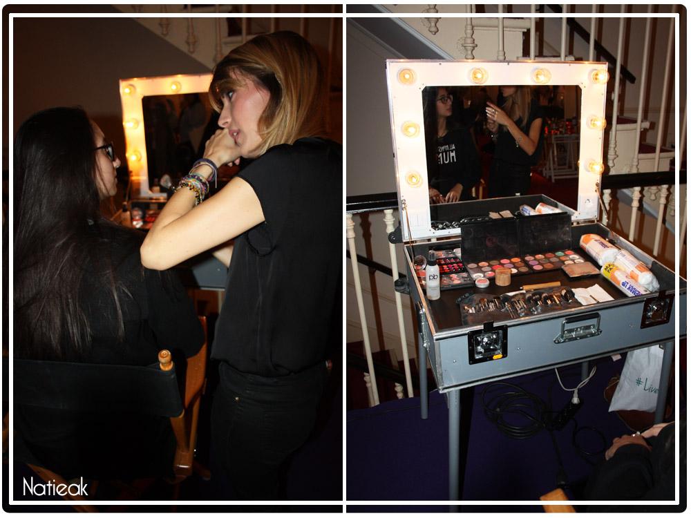 Atelier maquillage Victoires de la beauté 15 eme anniversaire
