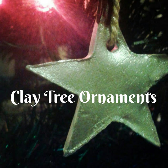 Clay Tree Ornaments, Christmas tree star