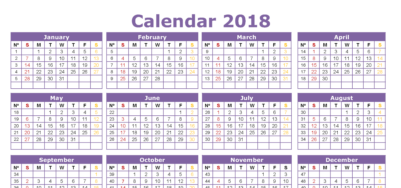 Hindi Calendar 2018 with Festivals and Holidays