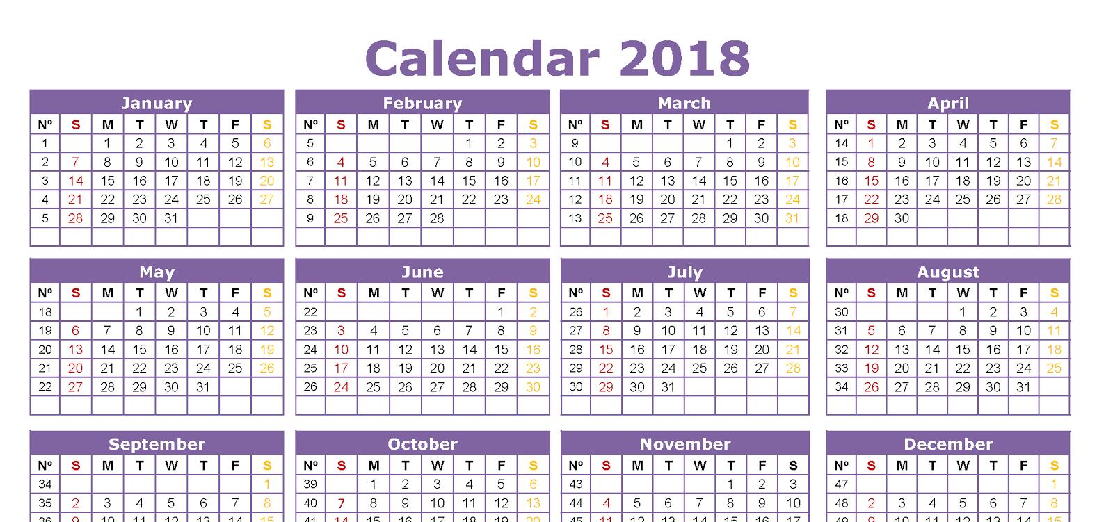 हिंदी कैलेंडर 2018 | Hindi Calendar 2018 Festivals & Holidays
