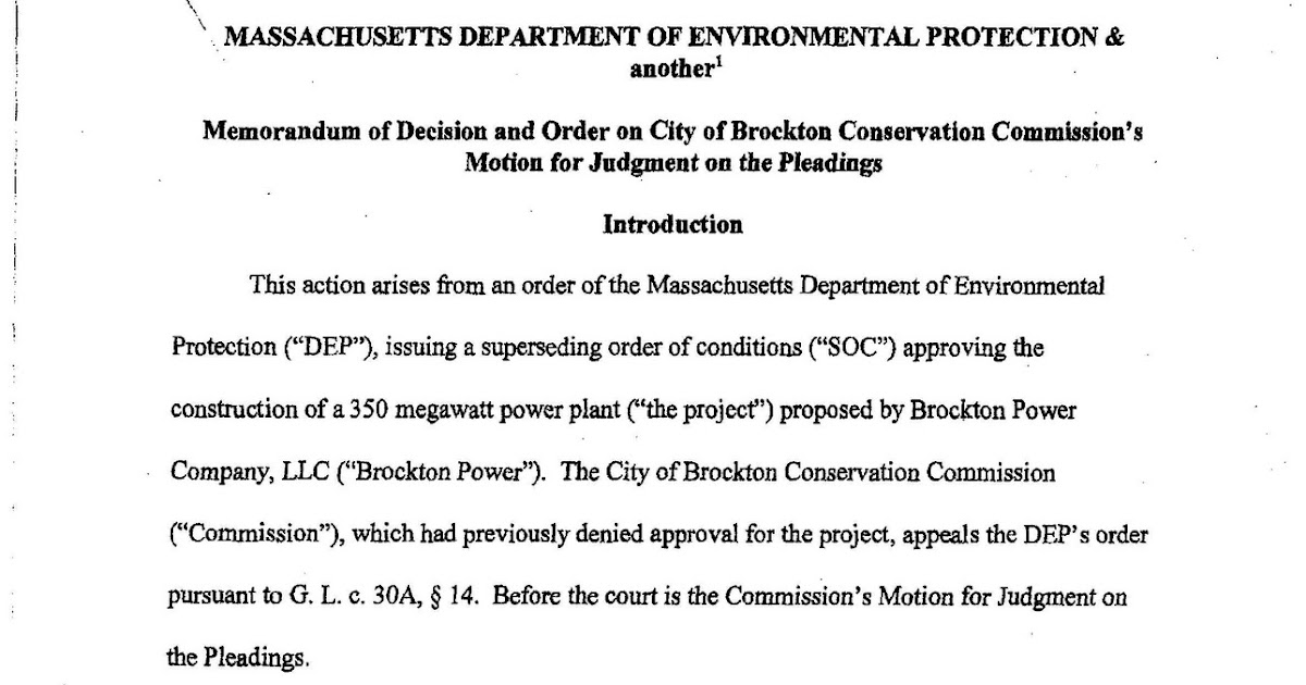 BrocktonPost City Hall & Public Affairs: Court Upholds