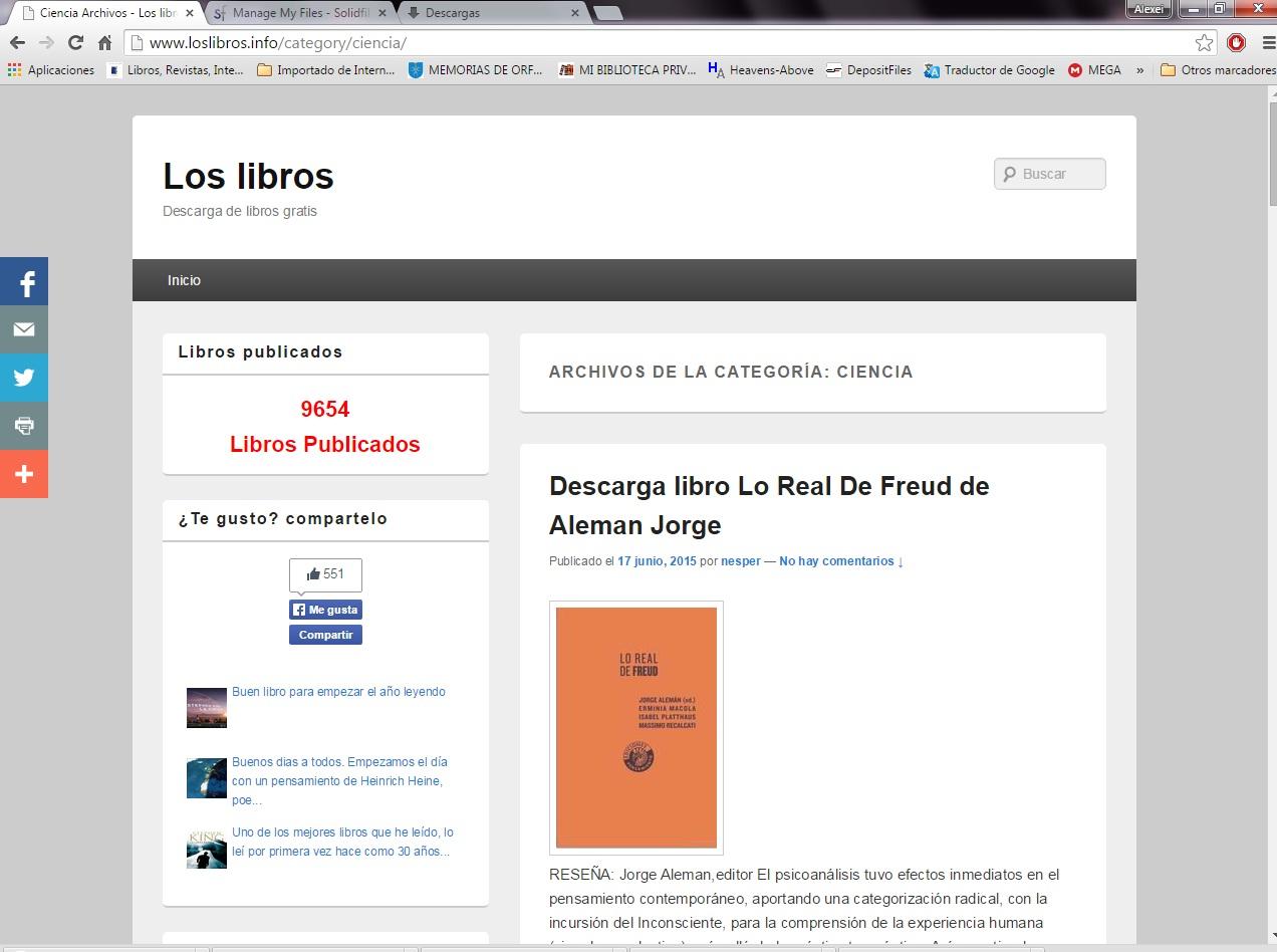 Libros, Revistas, Intereses : Los Libros: Descarga De