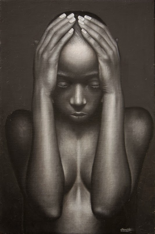 Entre Sombras - Omar Ortiz | Pintura Sensual Hiper-Realista  - Mexicano