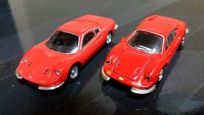kyosho ferrari minicar dino new vs old early vs late design change update