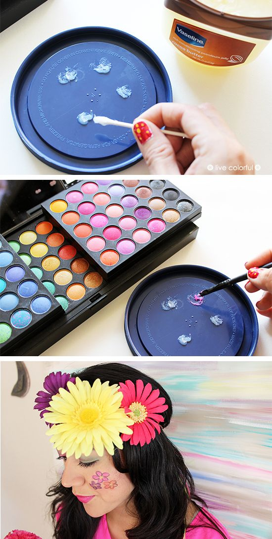 5 EASY WAYS TO MAKE FACE PAINT AT HOME- How fun!  My kids love to have their face painted!
